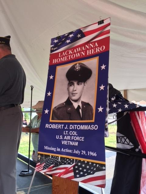 Lt. Col. Robert DiTomasso was remembered at Lackawannna's National Night Out.