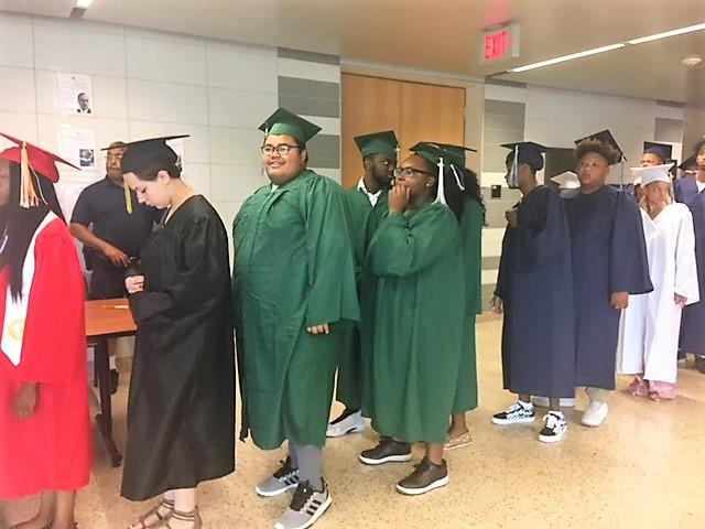 Students from 16-Buffalo Public high schools appeared for graduation at McKinley High School.