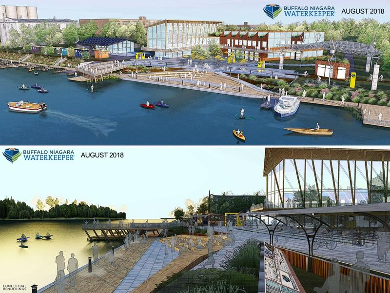 Conceptual Rendering of Buffalo Niagara Waterkeeper's Waterway Center project