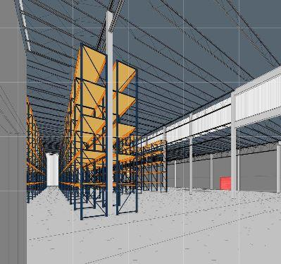Rendering of the inside of the new space at Graphic Controls.