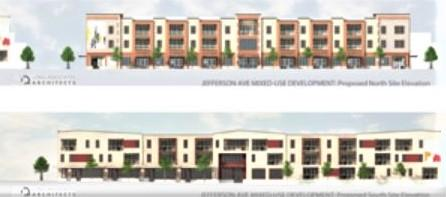 Rendering of the new housing project.