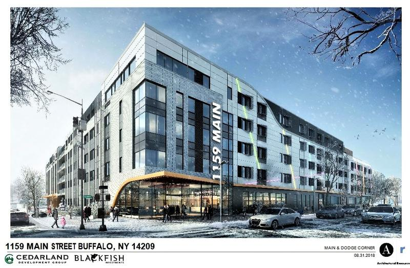 This complex will be going up at Main and Dodge streets.