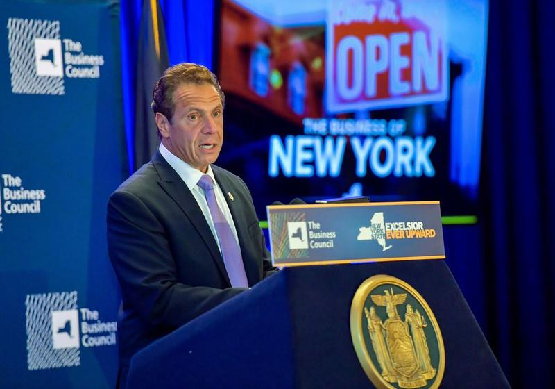 Gov. Andrew Cuomo speaks before the state's Business Council.