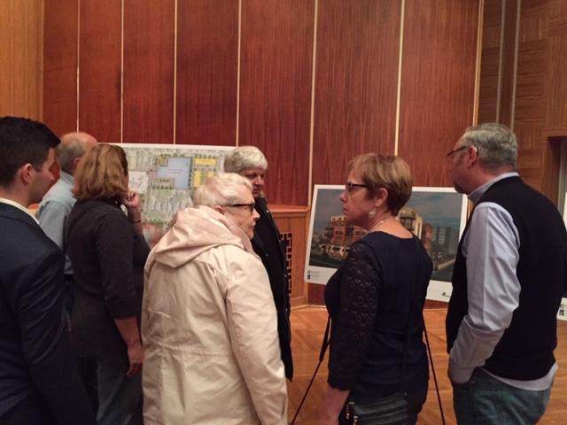 There was plenty of interest in the Elmwood Crossing renderings.