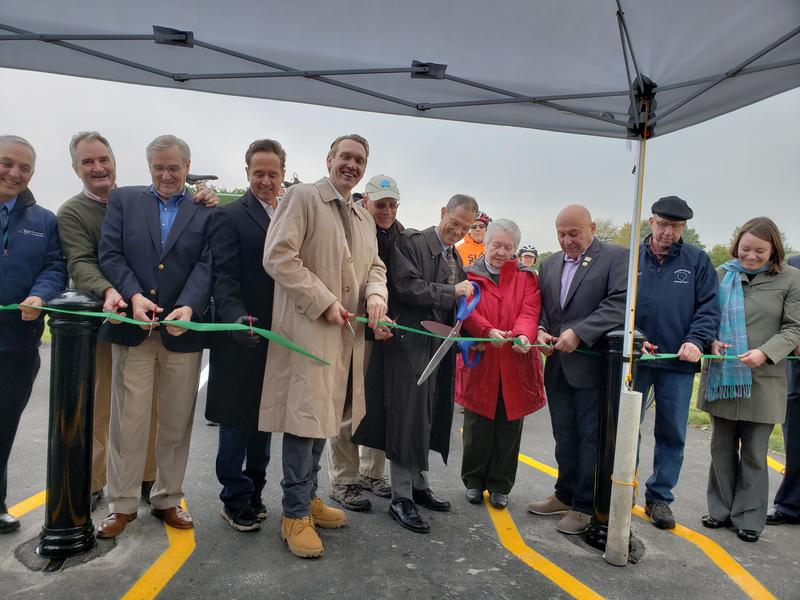 Official opening of the West River Road Shoreline Trail in Grand Island.