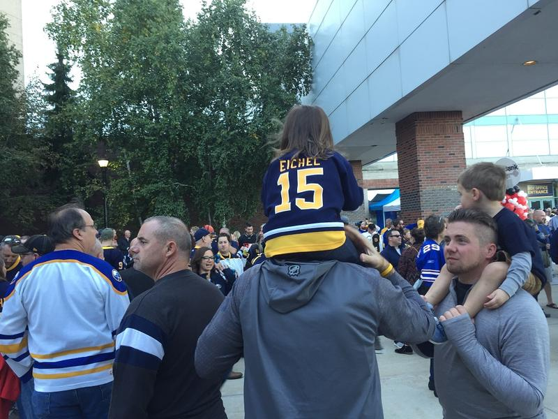 Sabres fans young and old came out to watch Buffalo's season-opening game Thursday evening at KeyBank Center. Unfortunately for the hometown fans, the Sabres fell to Boston, 4-0.