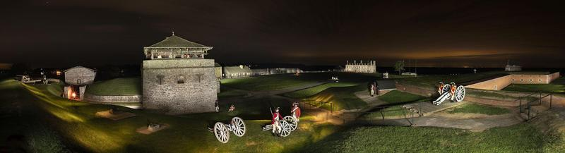 Old Fort Niagara by night