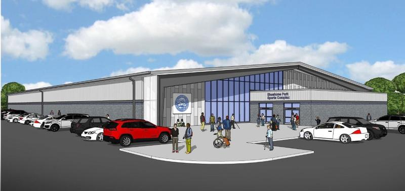 Rendering of the new 75,000-square-foot sports complex.
