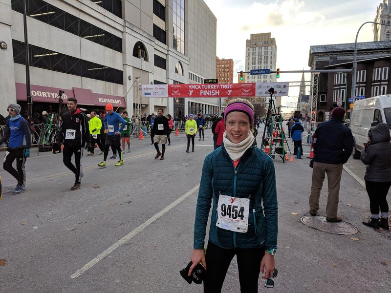 Rebecca O'Connor is a six-time Turkey Trotter, who runs with her husband.