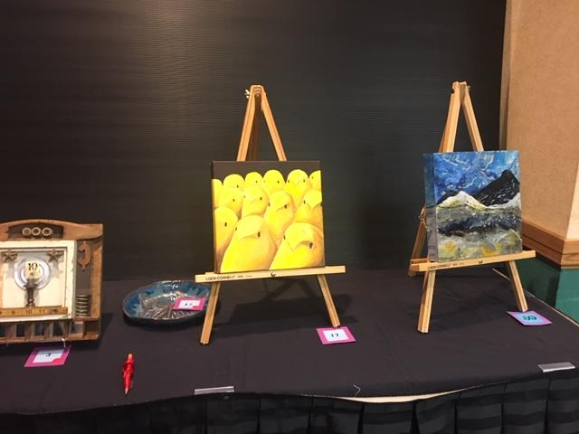 Teacher artwork displayed at the New York State Art Teachers Association Conference in Buffalo.