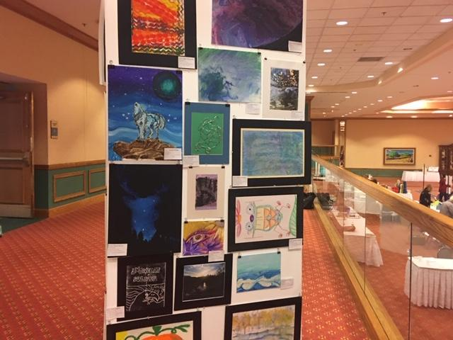 Student artwork displayed at the New York State Art Teachers Association Conference in Buffalo.