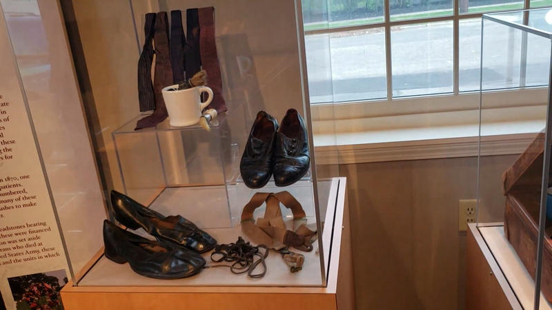 Items from suitcase of Lawrence Mocha, who arrived at Willard in 1918.