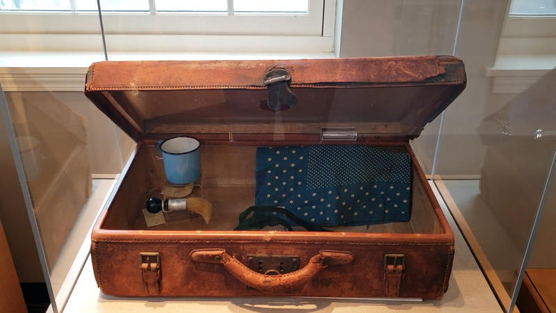 Suitcase of Lawrence Mocha, who arrived at Willard in 1918.