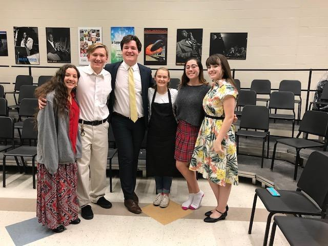 Lockport High School students appearing in play.