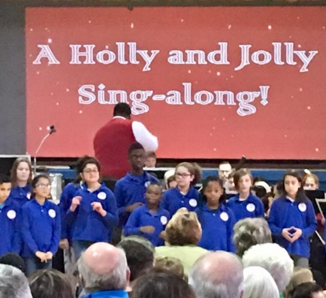 St. Mary's School for the Deaf Sign Chorus performed a sing-along.