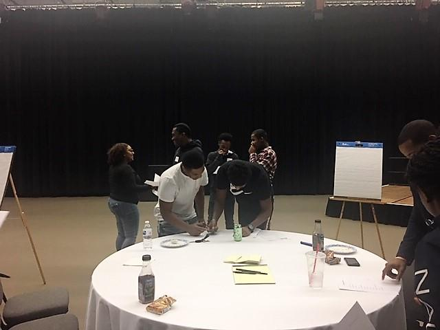 Buffalo and Niagara Falls students participated in a small focus group.