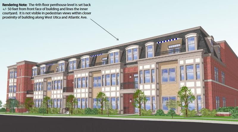 Rendering of the new Cadet Townhomes at 169 West Utica St.