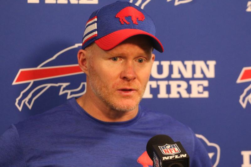 """Coach Sean McDermott: """"I thought we had a good chance to win the game on our final drive. It's tough to swallow because we had opportunities to win this game."""""""