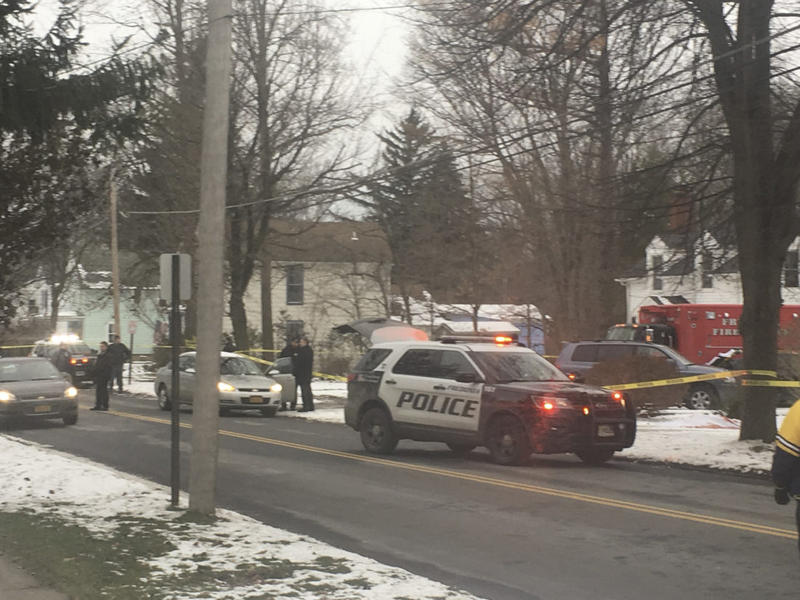 Fredonia Police and other agencies block off Liberty Street Monday afternoon.