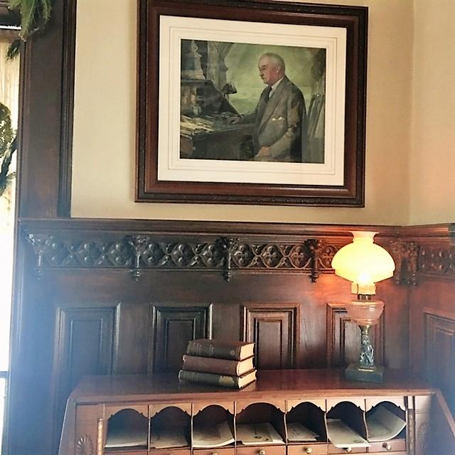 Inside the TR Site Morning Room & desk where TR wrote a Day of Mourning declaration