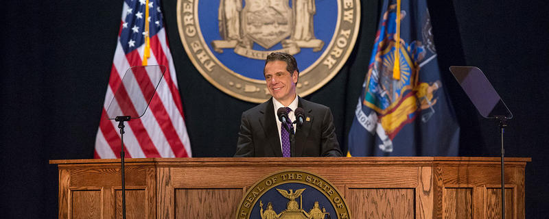 Gov. Andrew Cuomo giving his 2018 State of the State Address.