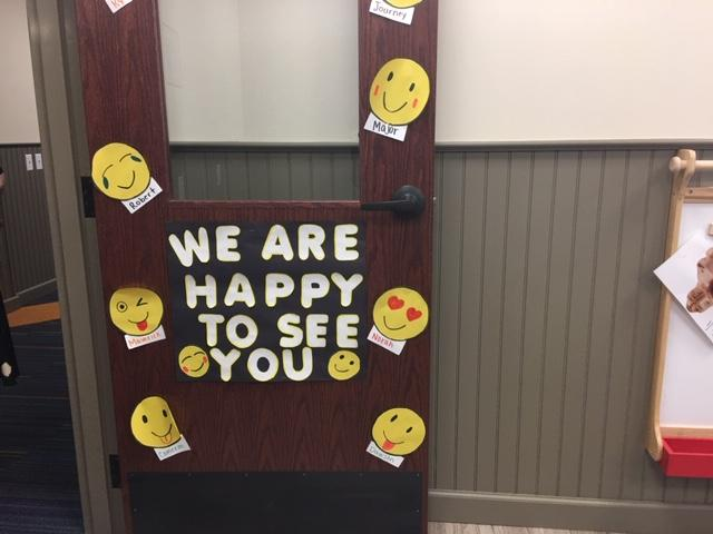 Classroom door at Children's Academy at Gerard Place on Bailey Avenue.