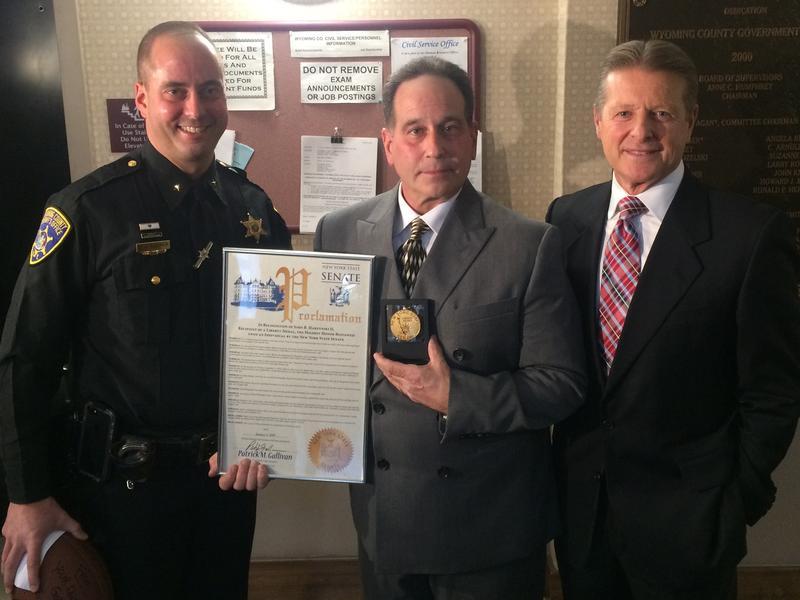 (l to r) Deputy Gregory Rudolph, John Harzynski and New York State Sen. Patrick Gallivan.