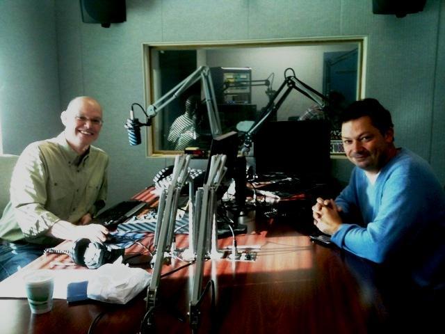 WBFO & AM 970's Chris Jamele with Artvoice editor Geoff Kelly