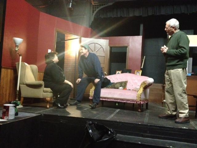 Kelli Bocock-Natale, Richard Lambert & Joseph Natale rehearse