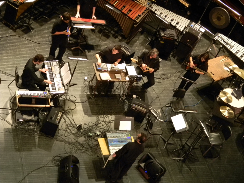 "The Digital Music Ensemble plays ""A Remark You Made"" by Weather Report during its debut concert April 18, 2012."