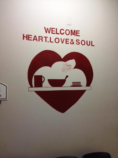 On the wall inside Heart, Love & Soul
