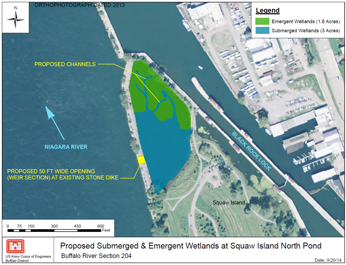 Proposed Submerged Emergent Wetlands At Squaw Island North Pond Credit U S Army Corps Of Engineers
