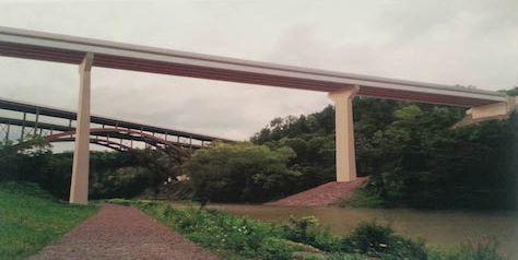 Old bridge spanning western NY gorge imploded