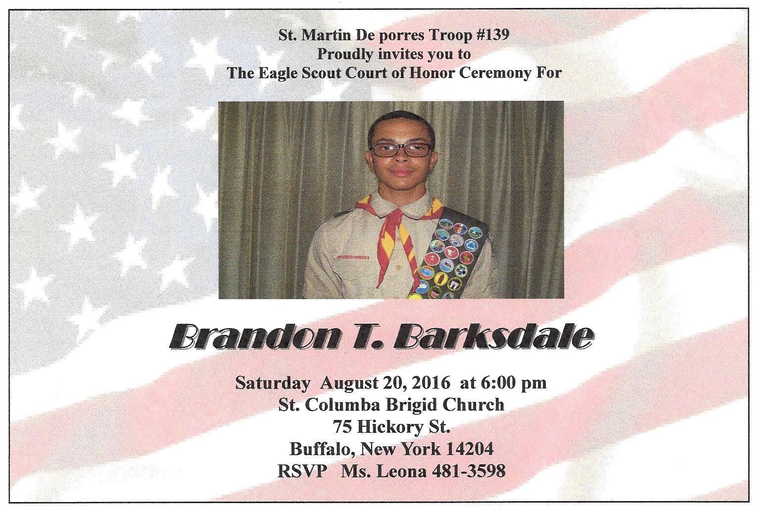 Matt The Scout Boy Credits Version 2: East Side Boy Scout Scores Prestigious Eagle Scout Status