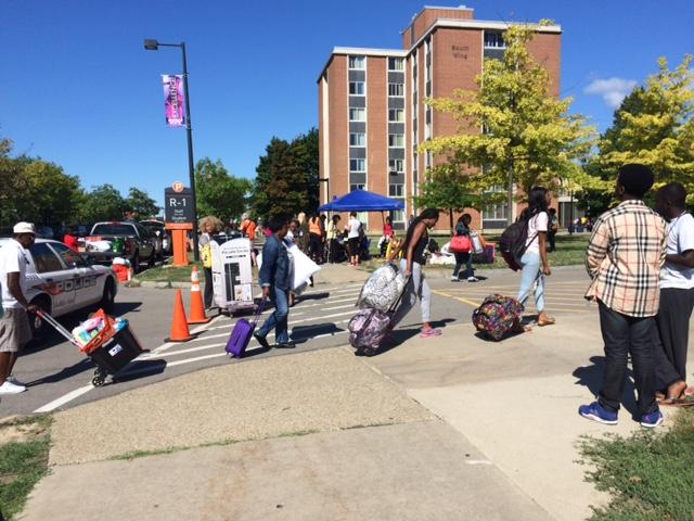 Students Rolled Their Suitcases Behind Them As They Moved In To Buffalo  State Dorms Tuesday. Part 82