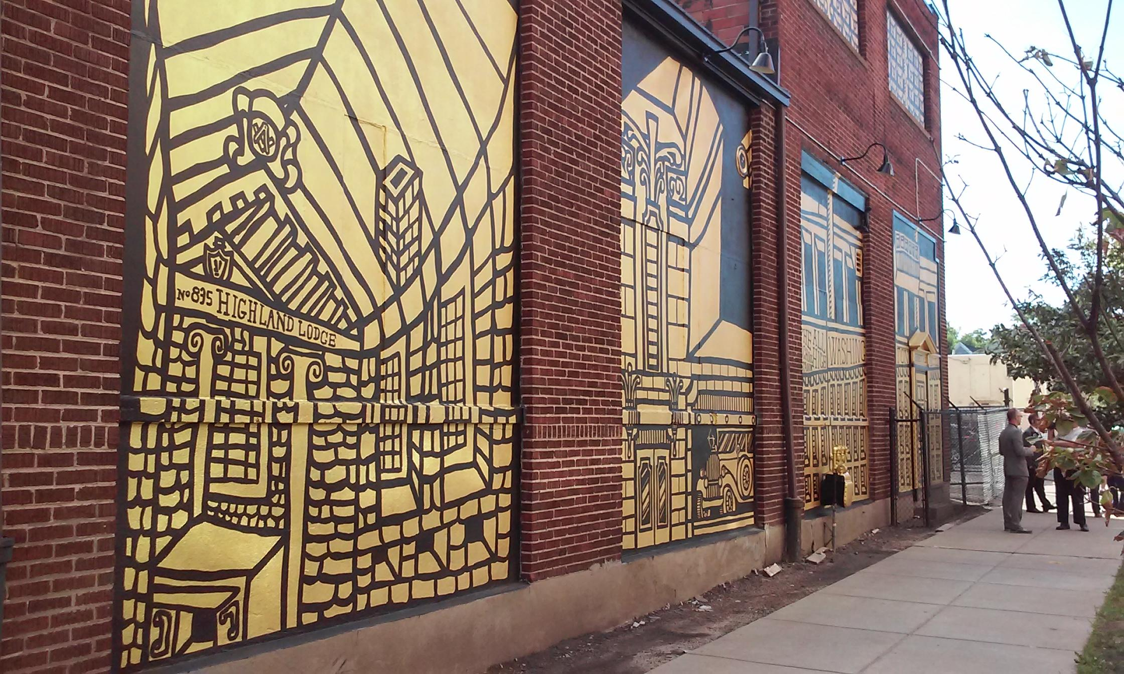 Mural symbolizes unity between buffalo 39 s east and west for Bufflon revetement mural