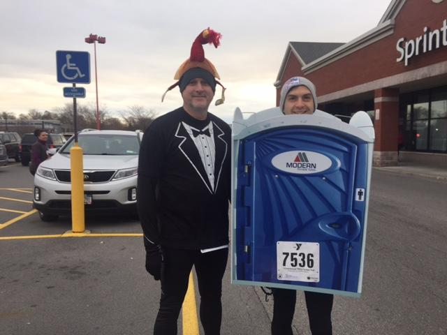 Al Longo of Williamsville decided to dress up as a portable toilet