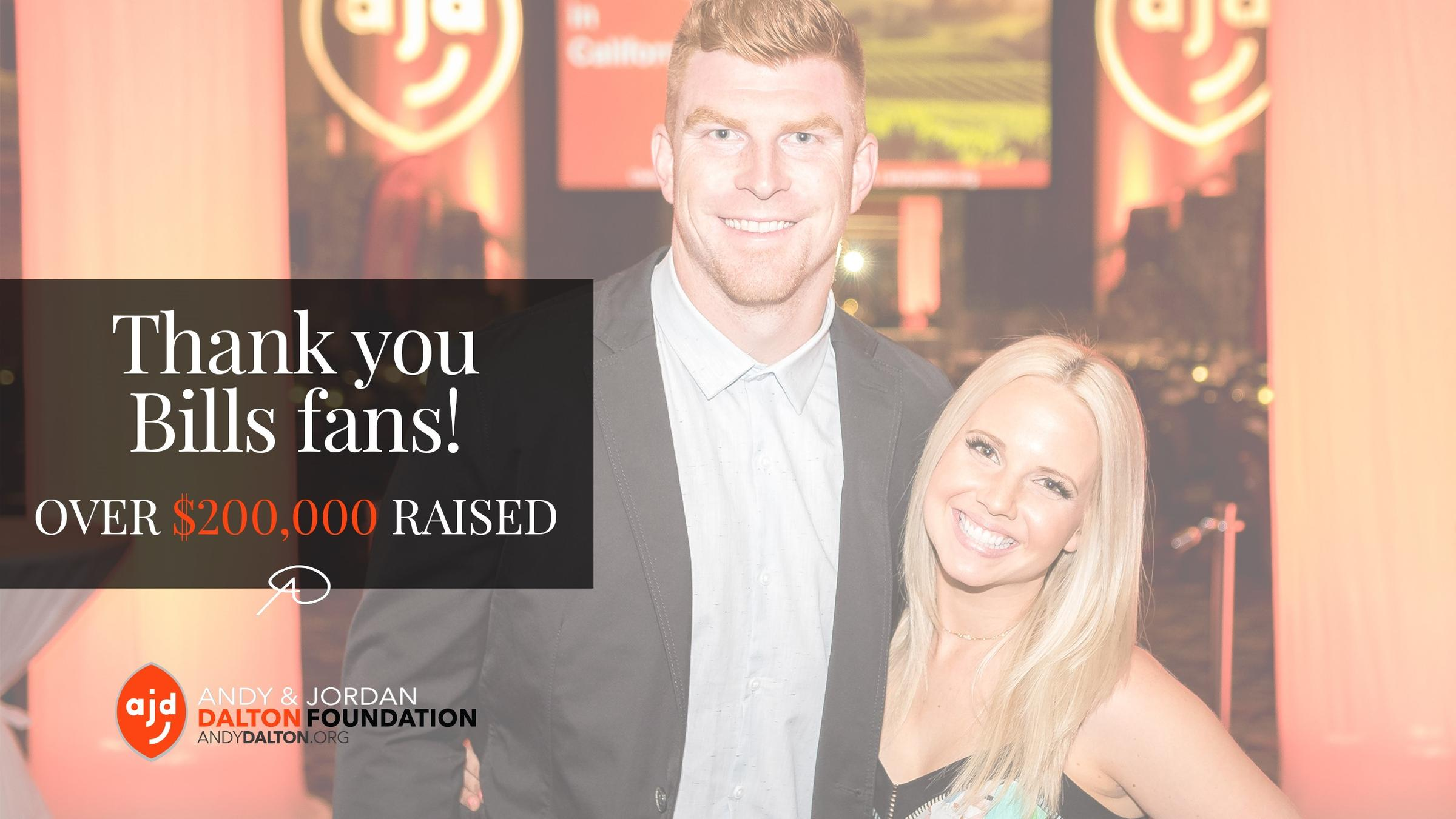 Bills fans donate almost $400K to Andy Dalton, Tyler Boyd charities