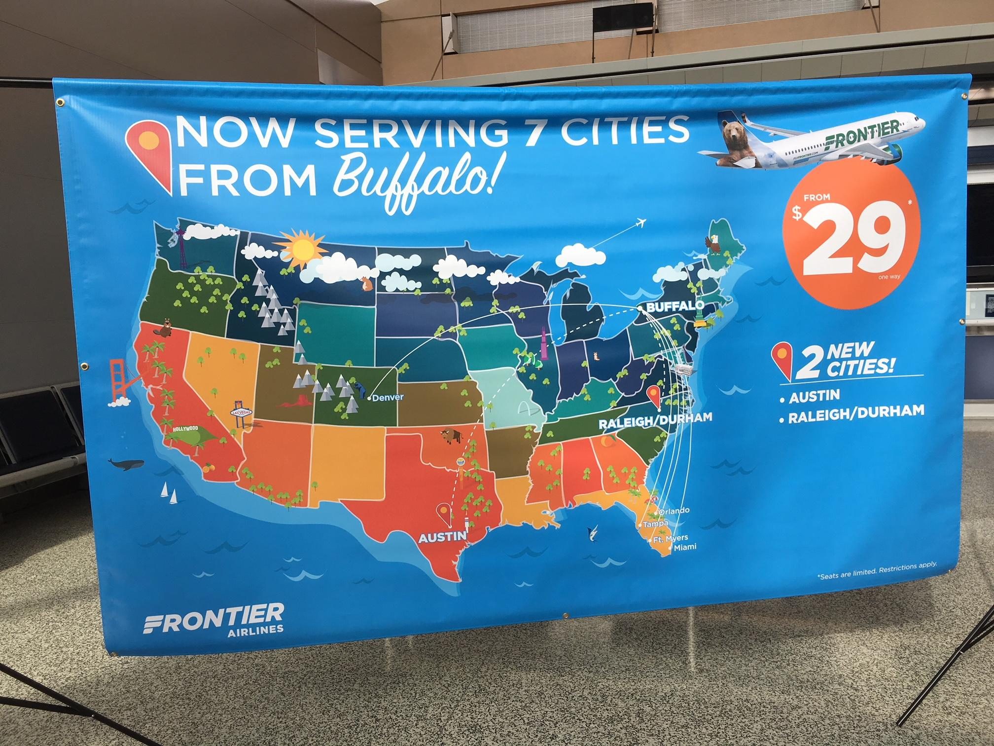 Frontier Airlines adds four new nonstop flight destinations from Trenton-Mercer Airport