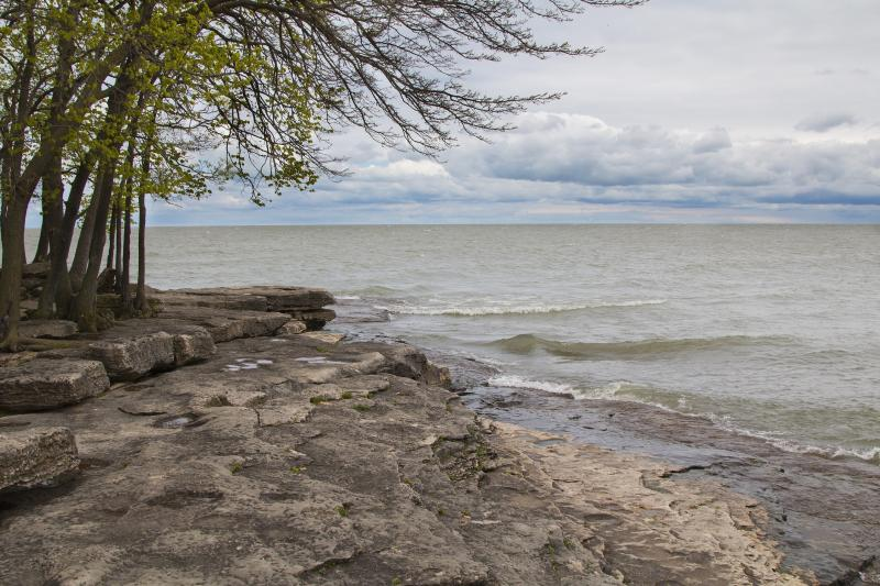 Rocky shoreline of Lake Erie