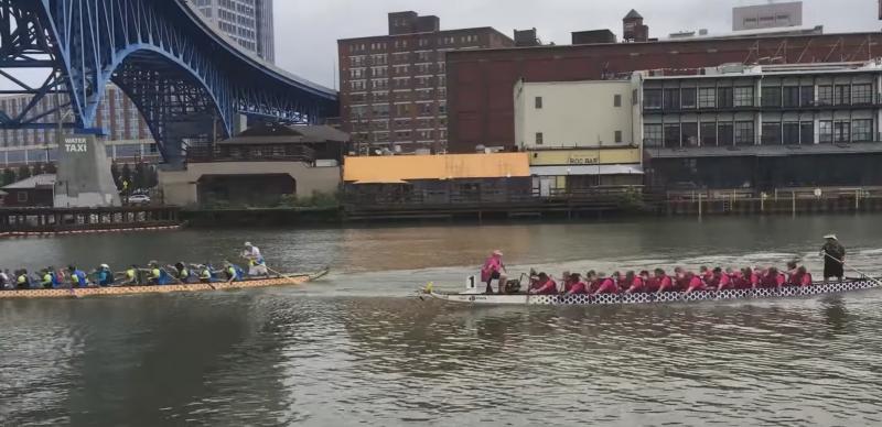 Dragon Boats Race on the Cuyahoga