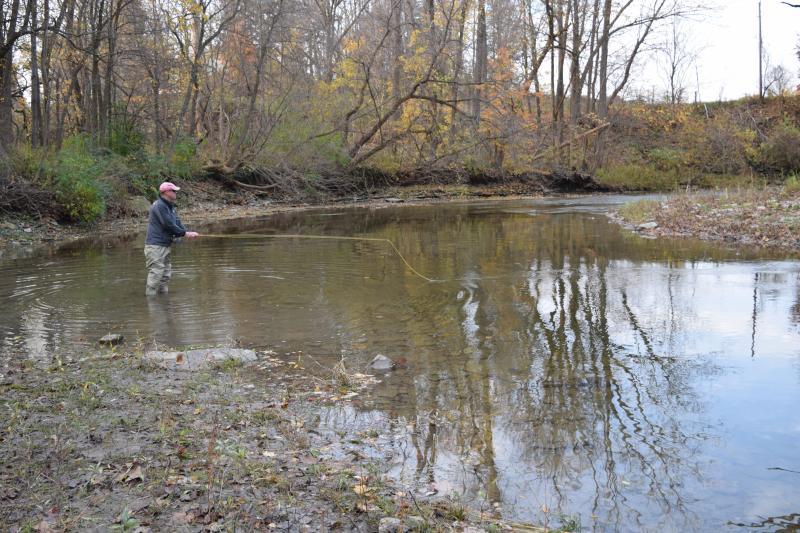 Will Spruance flyfishing for steelhead in Elk Creek