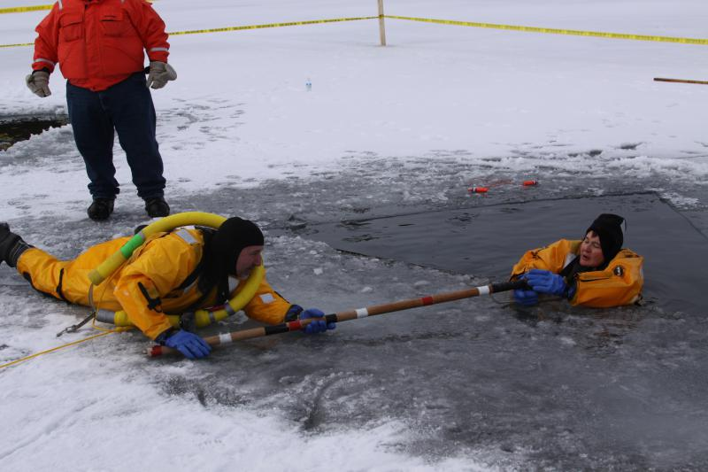 Saranac Lake Volunteer Fire Department / Ice rescue practice