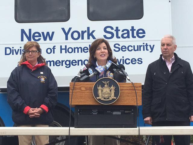 NY Lt. Gov. Kathy Hochul at Sodus Point