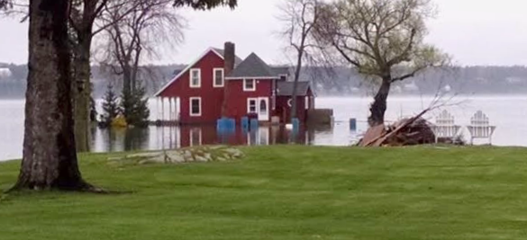 Flooded house in Hammond