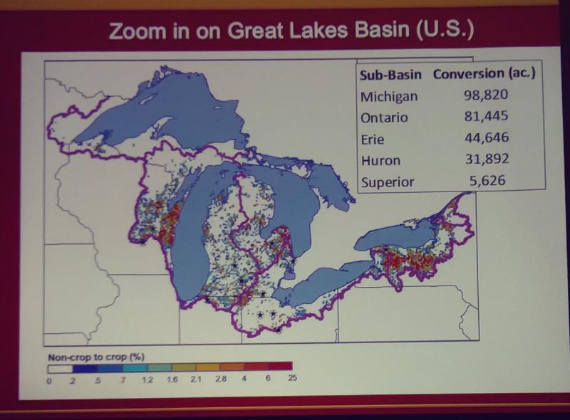 Photo showing land conversion in the Great Lakes region.