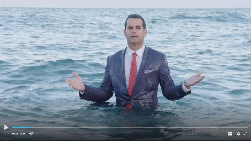 Michael Kosta in Lake Michigan