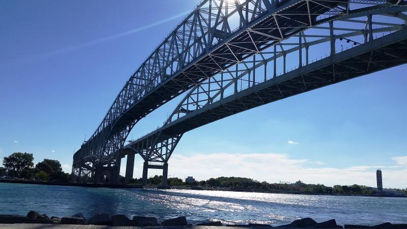 Blue Water Bridge between U.S. and Canada