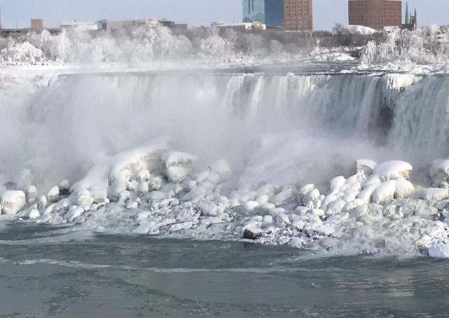 Ice on the American Falls at Niagara Falls