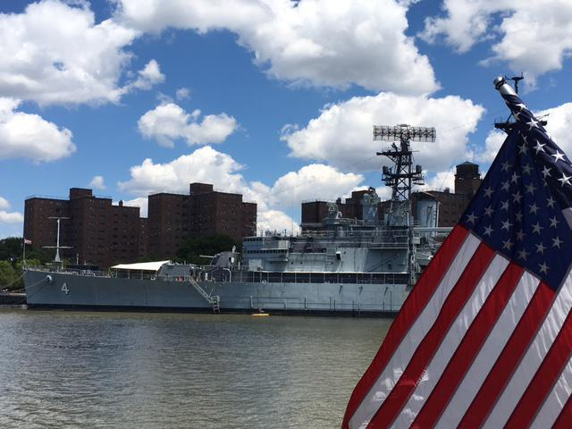 USS Little Rock in Buffalo for commissioning.